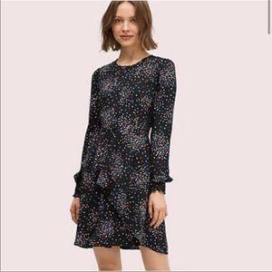 Kate Spade Confetti Print Smocked Dress